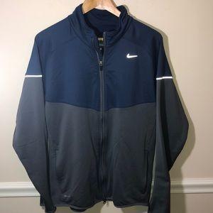 Nike Dri-Fit Blue Gray Zip Up Sweatshirt Large